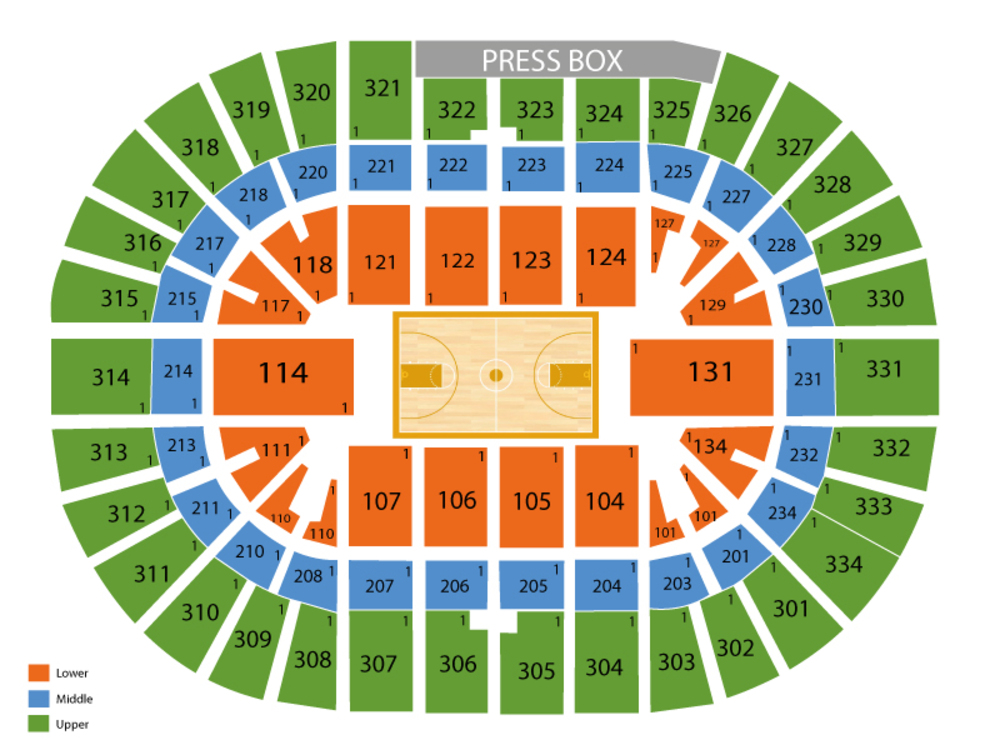 Schottenstein Center seating map and tickets
