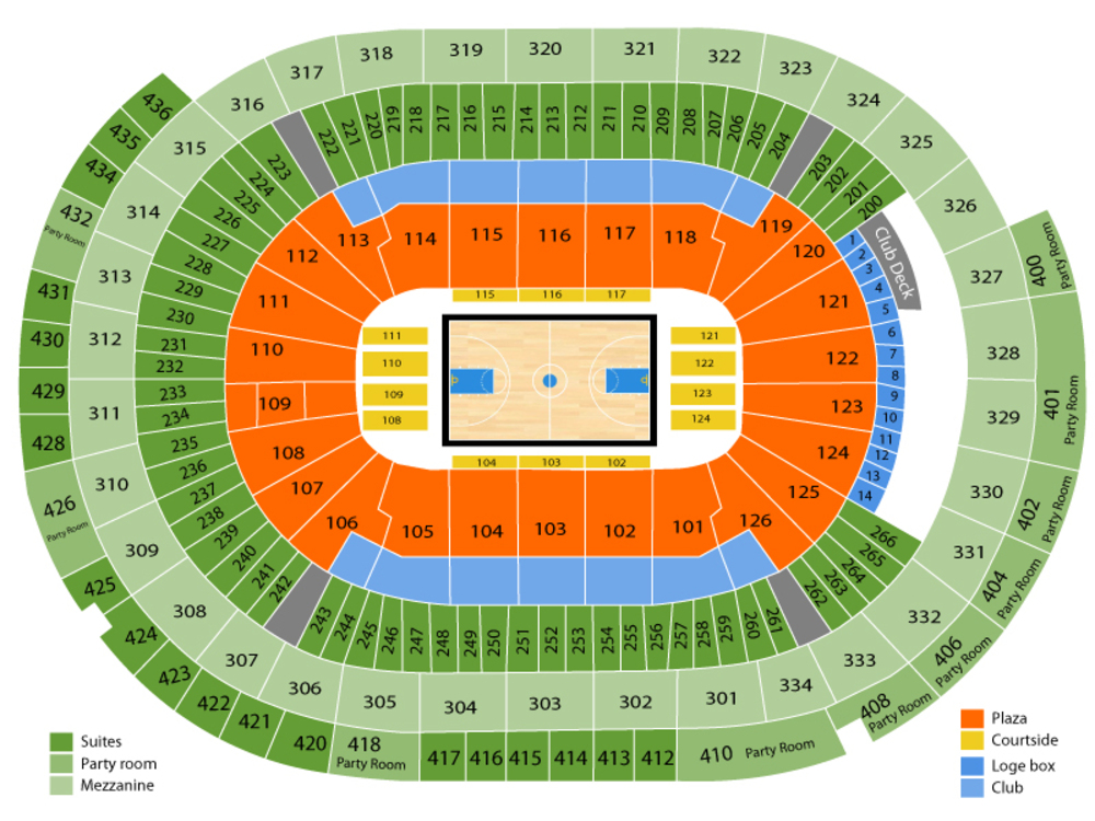 SEC Basketball Tournament - All Sessions Venue Map