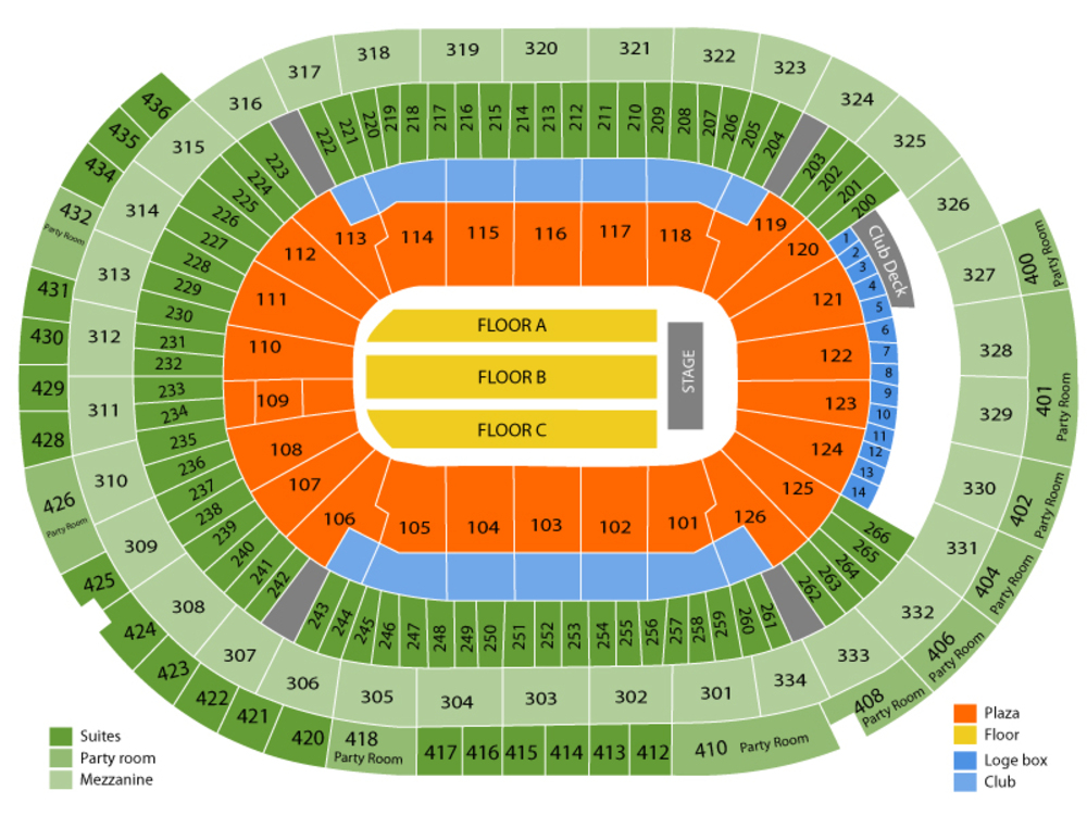UFC - Ultimate Fighting Championship Venue Map