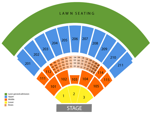 Toyota Amphitheatre Seating Chart Events In Wheatland Ca