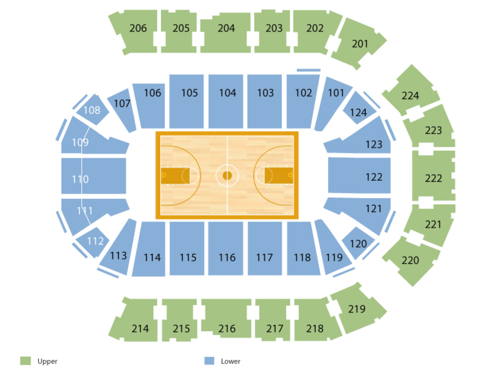 Spokane Arena seating map and tickets
