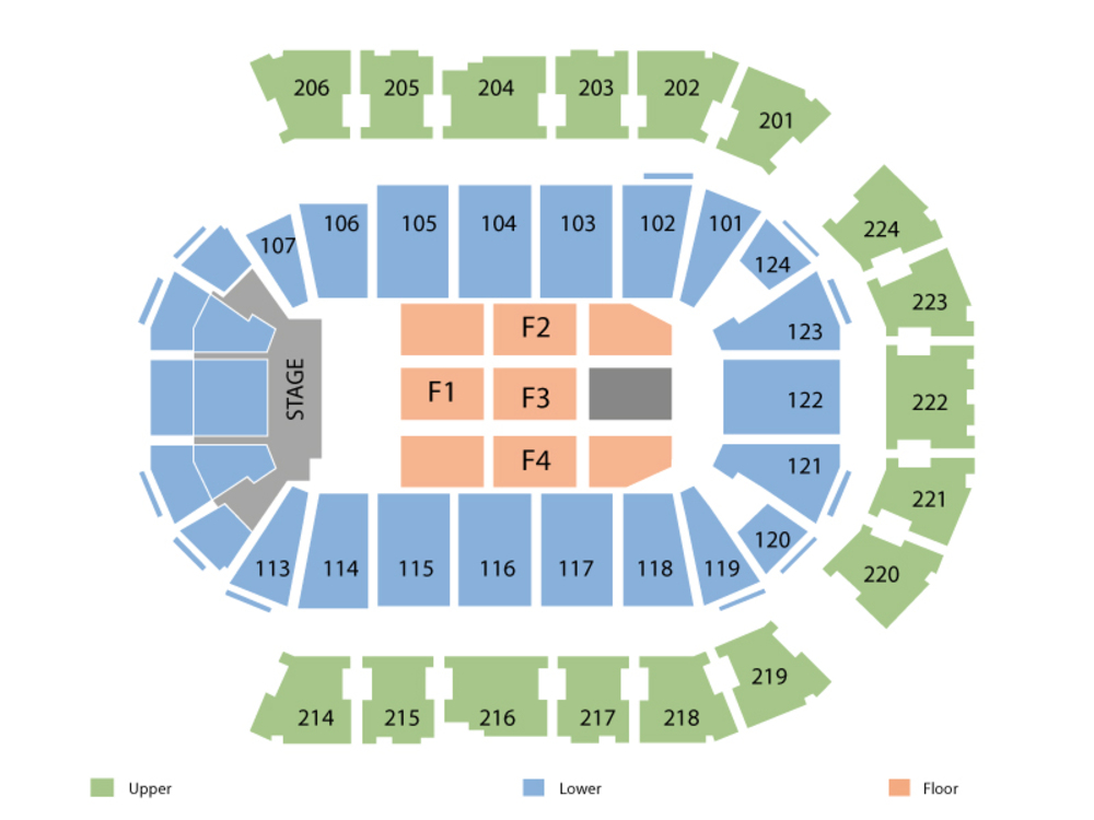 Backstreet Boys (Rescheduled from 08/07/2020) Venue Map
