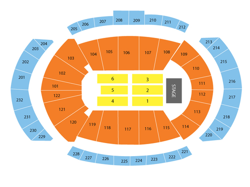 Matchbox Twenty and The Goo Goo Dolls Venue Map