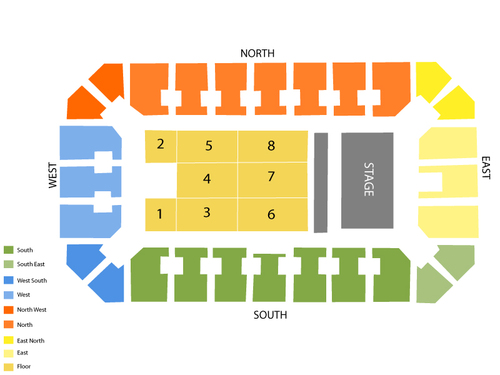 Stampede Corral Seating Chart