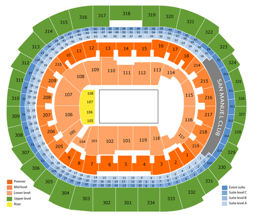 Disney On Ice: Dare to Dream Venue Map