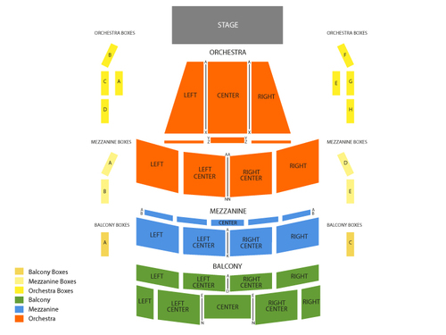 Au Rene Theater - Broward Center for the Performing Arts Seating Chart