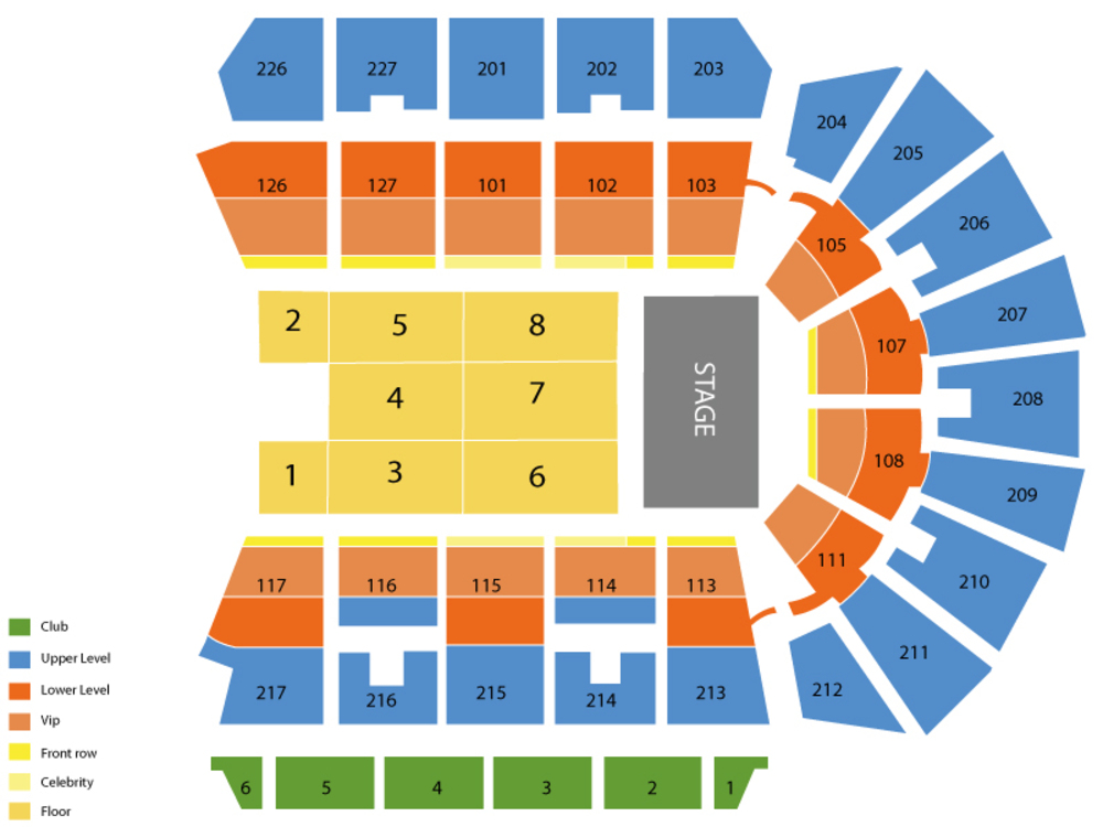 Stockton arena seating chart and tickets