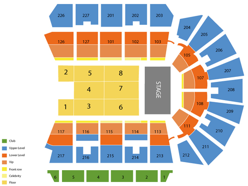 Stockton Arena Seating Chart