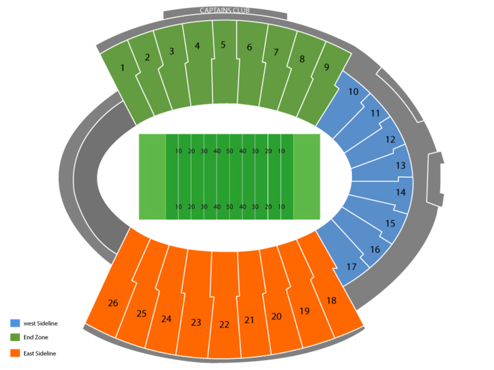 Seating Chart for Football Seating Chart at Sun Bowl Stadium
