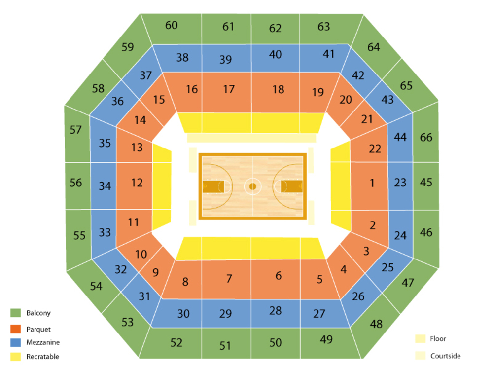 NCAA Mens Basketball Tournament - All Sessions Venue Map