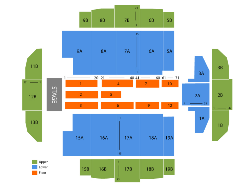 Tacoma Dome seating map and tickets