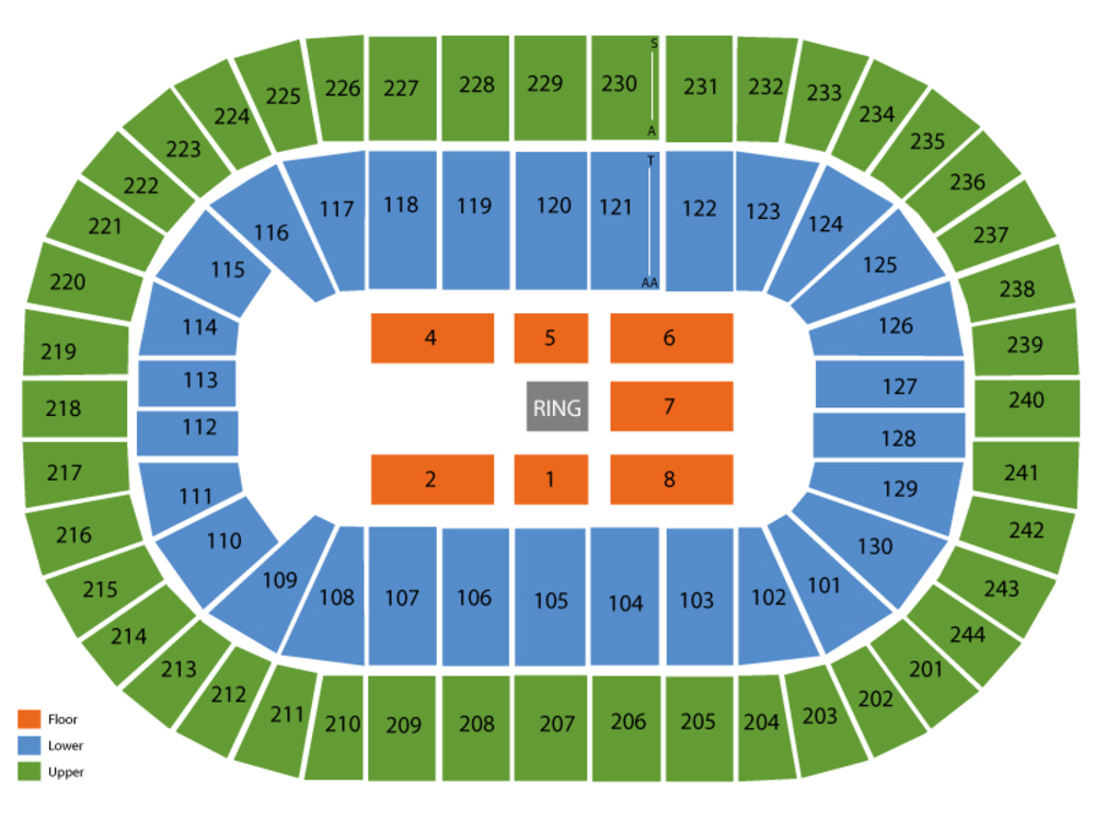 WWE Smackdown (Rescheduled from 5/1/20) Venue Map
