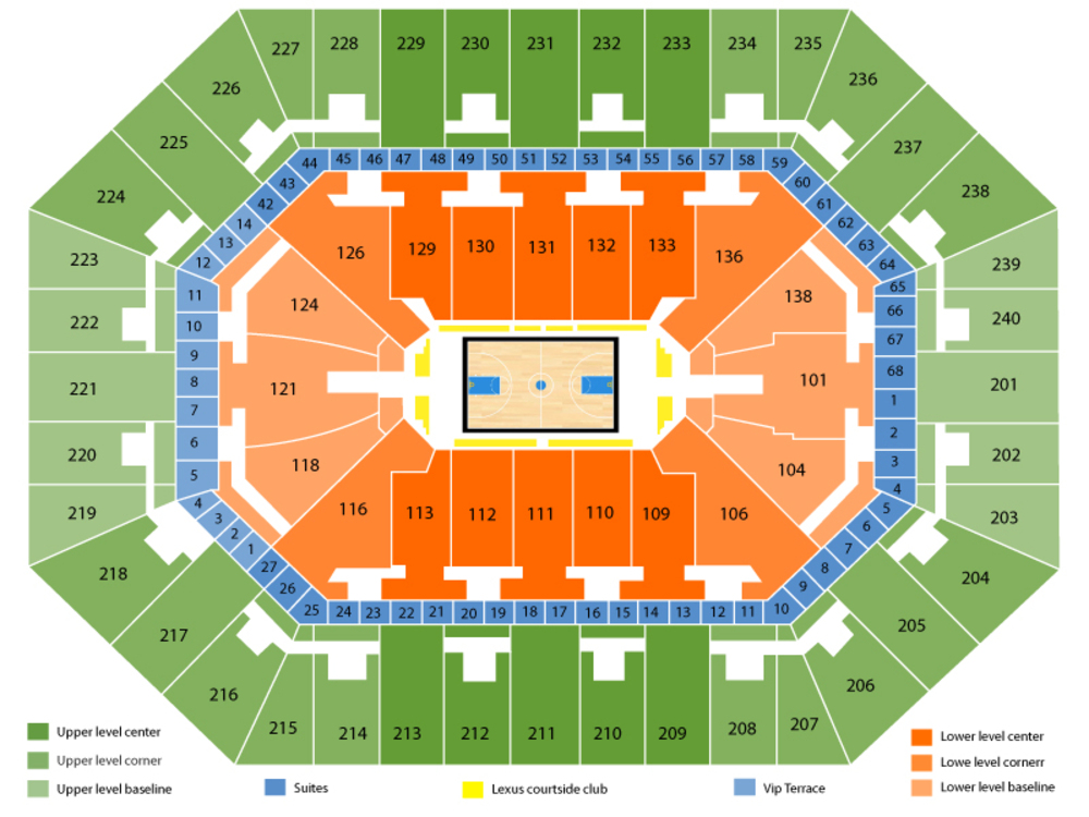 Target Center seating map and tickets