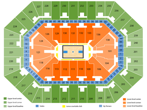 Connecticut Sun at Minnesota Lynx Venue Map