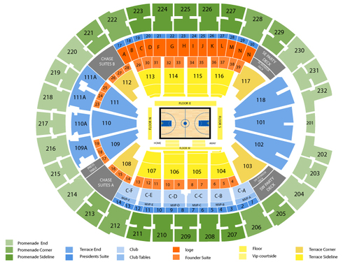 Miami Heat at Orlando Magic Venue Map