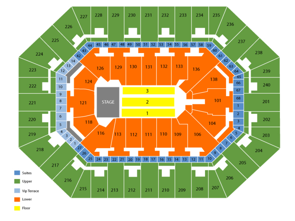 Seating Chart for End Stage Seating Chart at Target Center