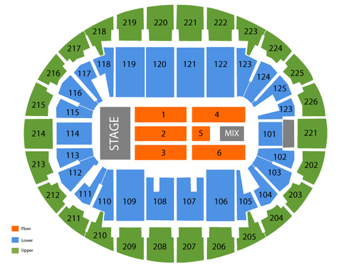 Verizon Wireless Arena (New England) Seating Chart