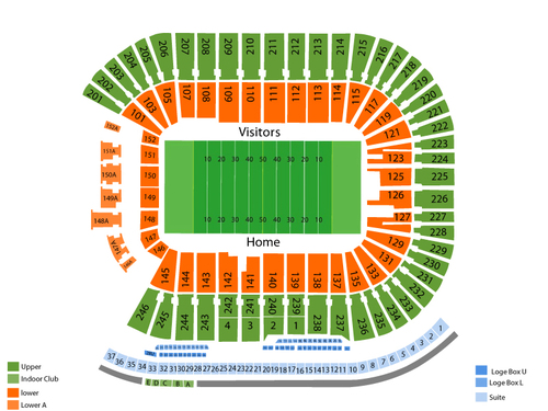 Western Illinois Leathernecks at Minnesota Golden Gophers Football Venue Map
