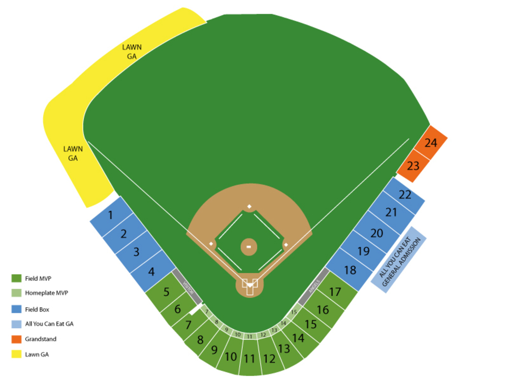 Spring Training: Texas Rangers at Los Angeles Angels Venue Map