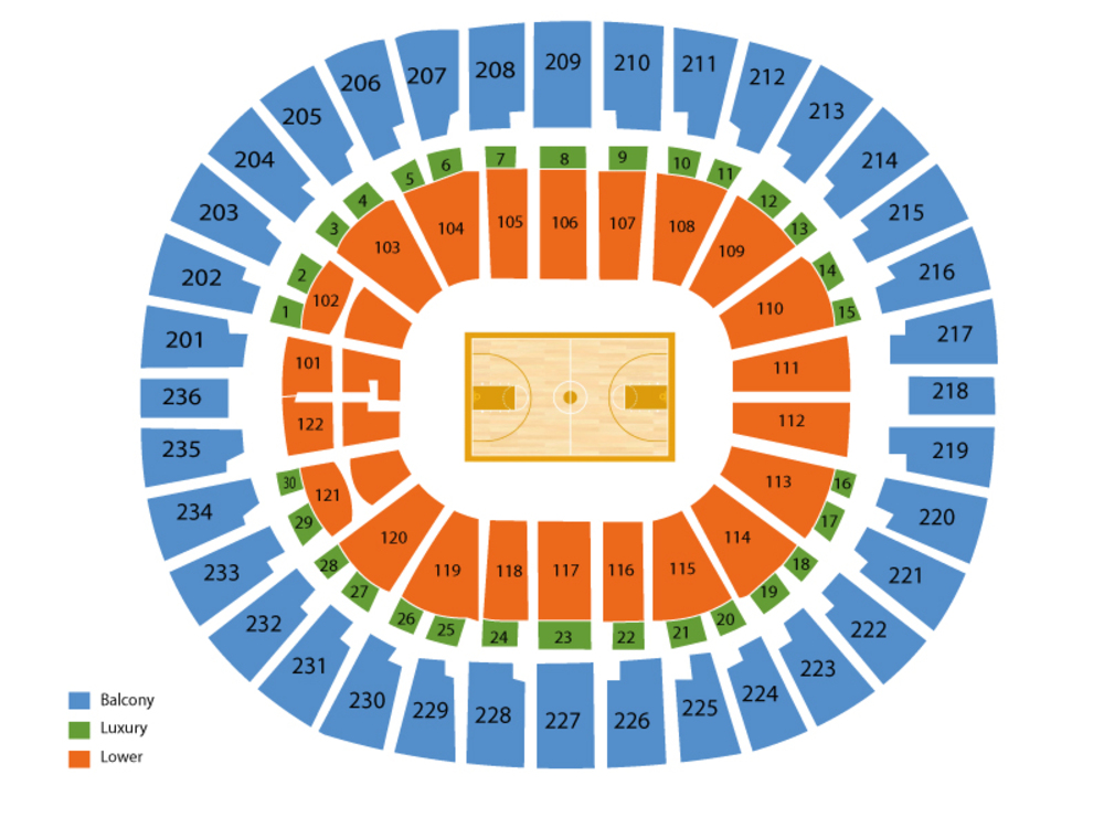 Thomas & Mack Center seating map and tickets