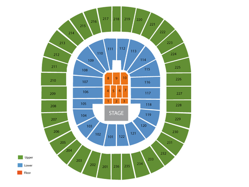 Thomas and Mack Center Seating Chart