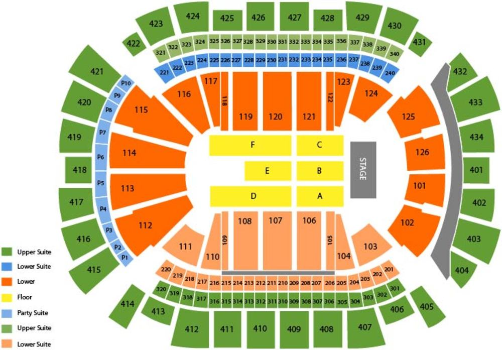 Chris Brown Venue Map