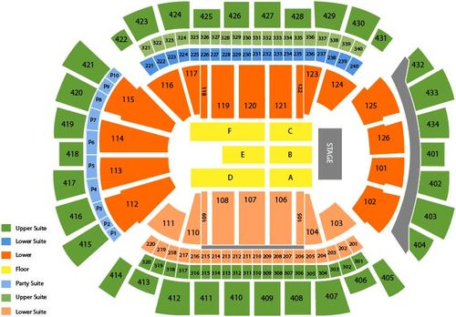 Toyota Center (Houston) Seating Chart