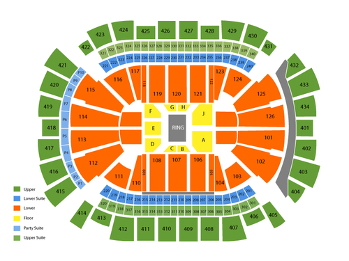 WWE Smackdown Venue Map