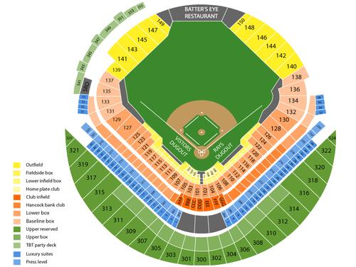 Tropicana Field Seating Chart