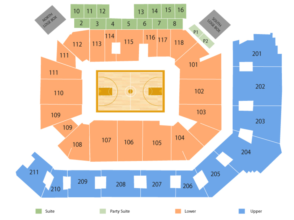 Cincinnati Bearcats at Central Florida Knights Basketball Venue Map