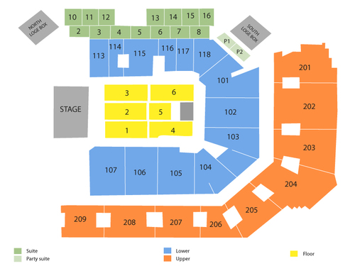 UCF Arena Seating Chart
