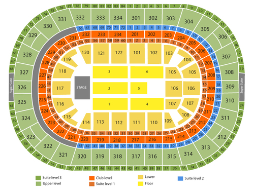 United center seating chart events in chicago il