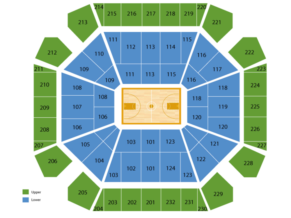 TCU Horned Frogs at Texas Tech Red Raiders Basketball Venue Map