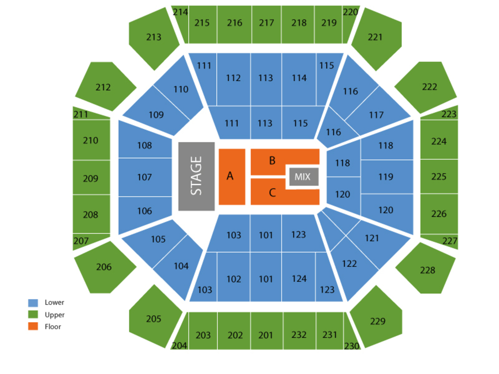 Kane Brown (Rescheduled from 5/1/2020 and 10/01/2020) Venue Map