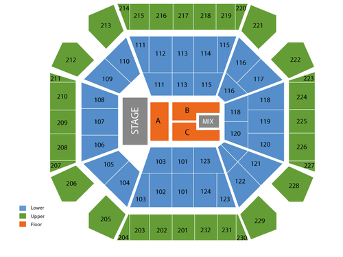 United Spirit Arena Seating Chart