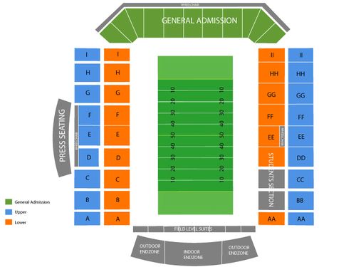 University Stadium (New Mexico) Seating Chart