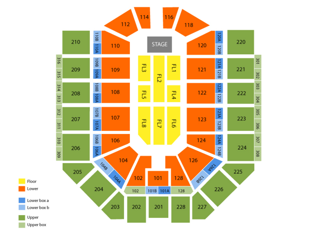 Brantley Gilbert Venue Map