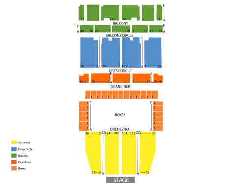 War Memorial Opera House Seating Chart