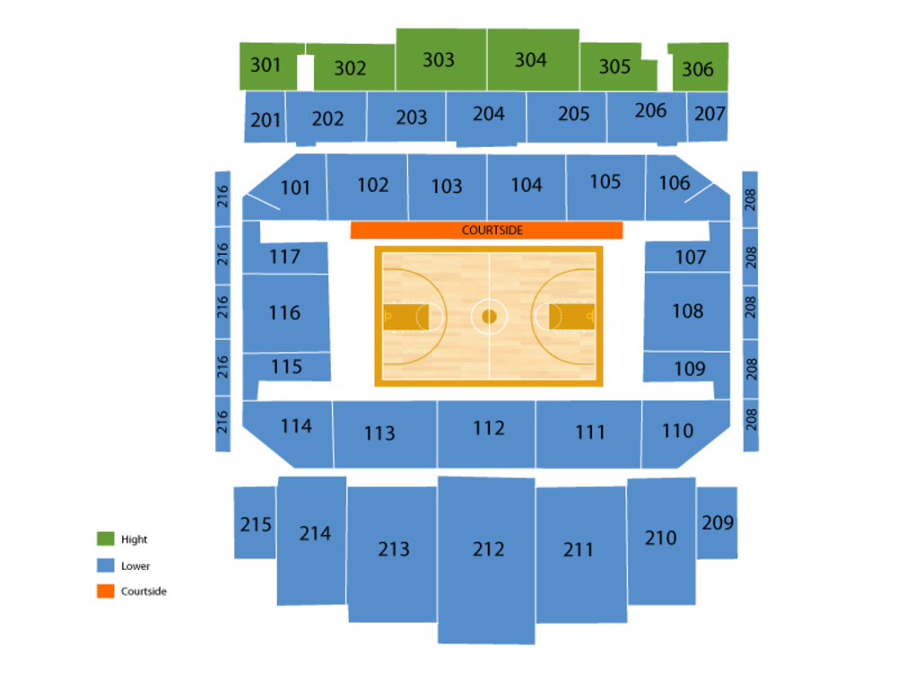Michigan State Spartans at Northwestern Wildcats Basketball Venue Map