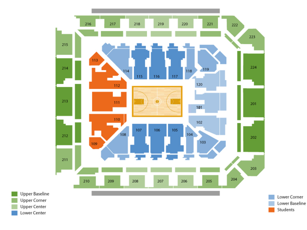 Oral Roberts Golden Eagles at Minnesota Golden Gophers Basketball Venue Map