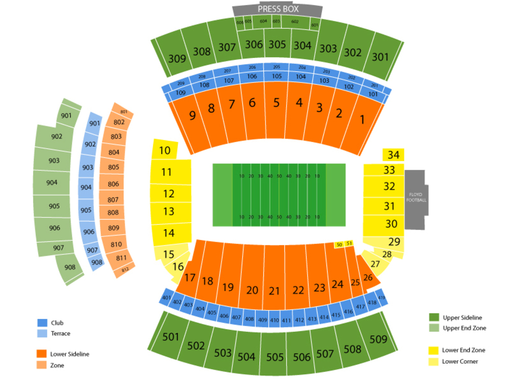 South Carolina Gamecocks Season Tickets Venue Map