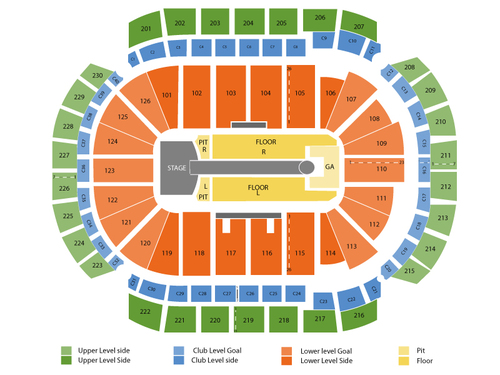 Taylor Swift with Ed Sheeran Venue Map