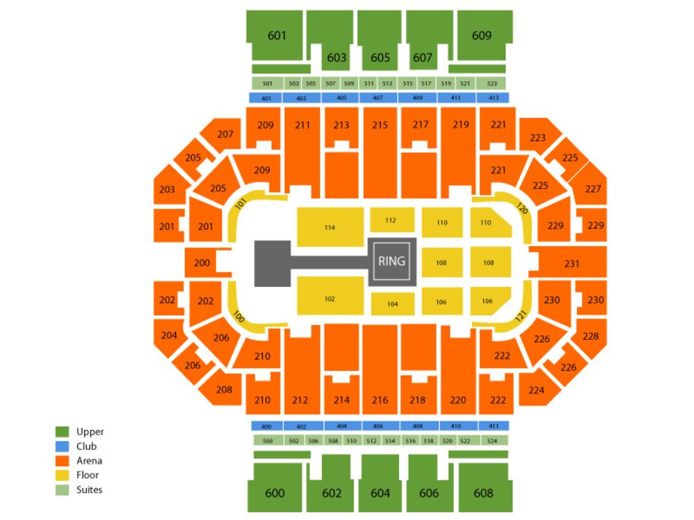 WWE Live Venue Map