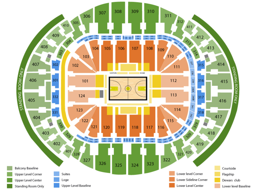 Oklahoma City Thunder at Miami Heat Venue Map