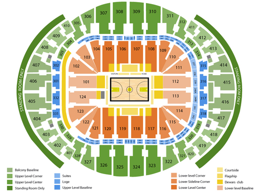 Los Angeles Lakers at Miami Heat Venue Map