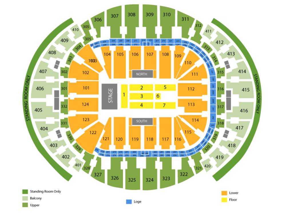 Bruno Mars Venue Map
