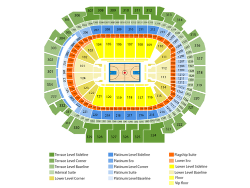 Los Angeles Lakers at Dallas Mavericks Venue Map