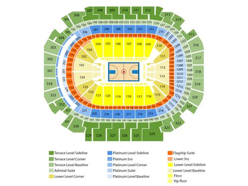 Miami Heat at Dallas Mavericks Venue Map