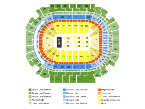 American Airlines Center Seating Chart