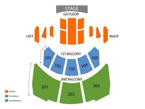 Hammerstein Ballroom Seating Chart